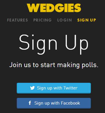 Wedgies- sign up