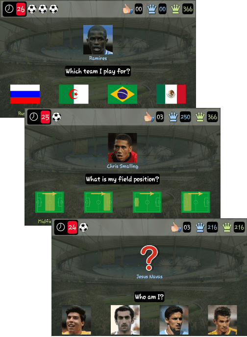 World Cup Trivia 2014 -game questions