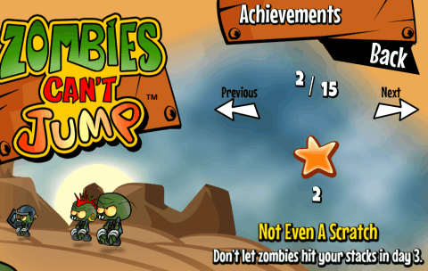 Zombies Can't Jump - Achievements