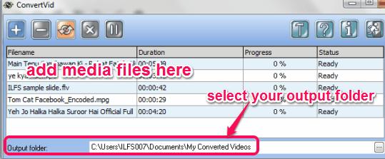 add media files for conversion