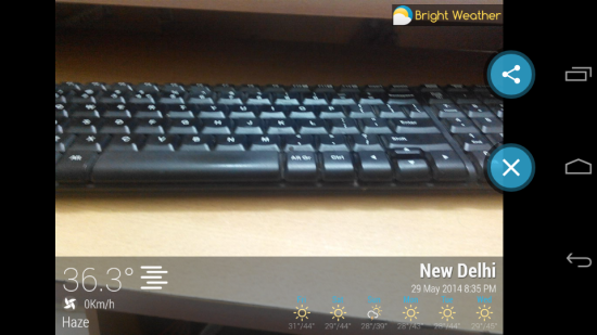 add weather details to your pictures with bright weather for android