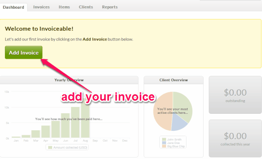 add your invoice