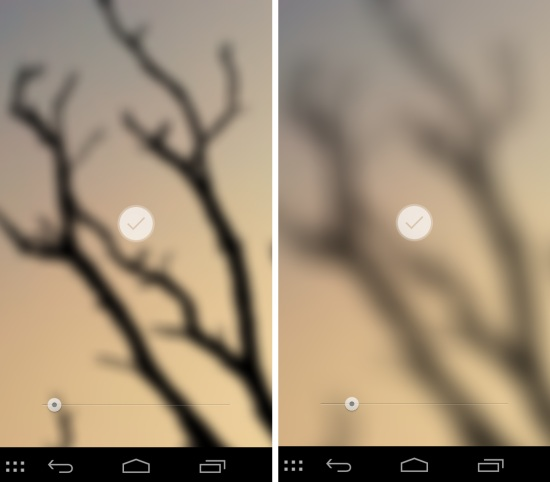 adjust the blur in blur app for android