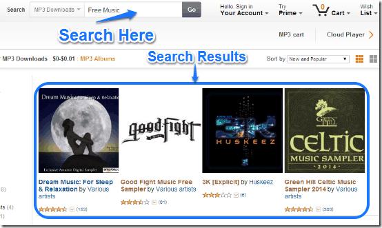 amazon free search