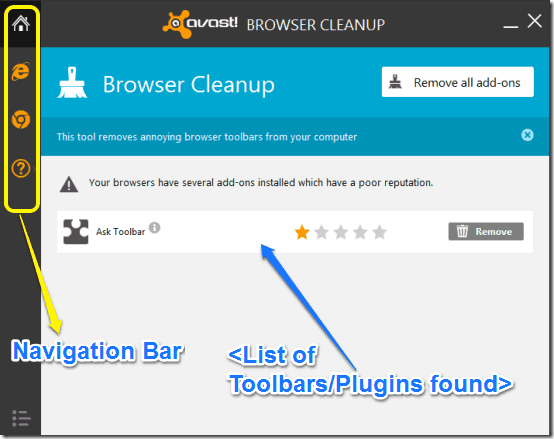 avast browser cleanup mainui