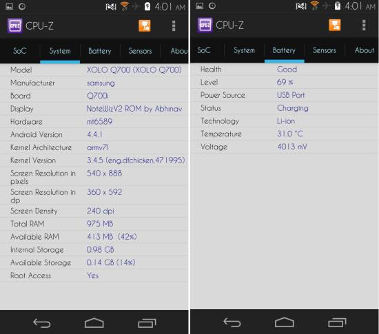 battery stats CPU-Z for Android
