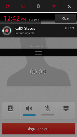 call being recorded