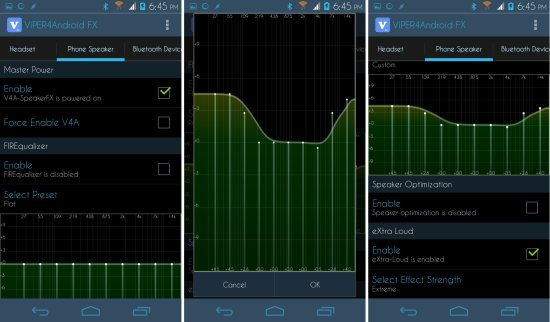 configuring Viper4Android Audio Effects