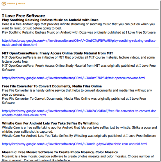 consolidated rss feed