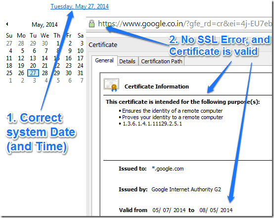 correct date certificate