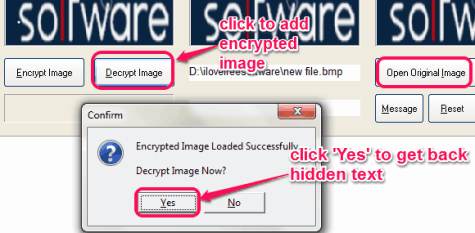 decrypt the encrypted image