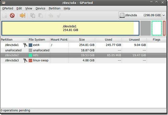 disk partitioning header
