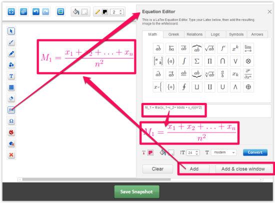 eduWeaver-Add LaTex