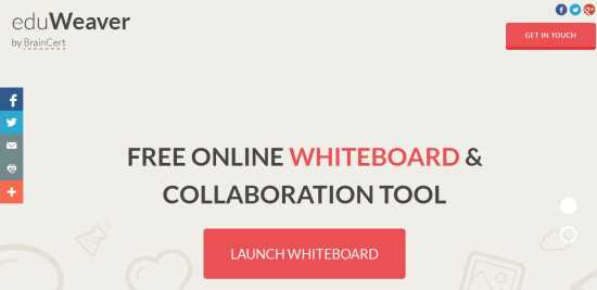 eduWeaver-home page