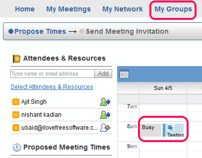 find out which time is suitable for meeting