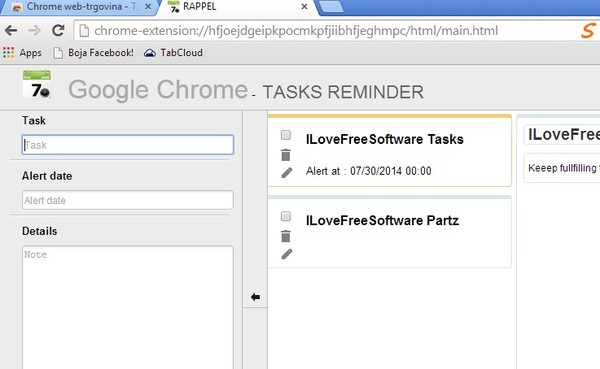 free reminder extensions google chrome 2