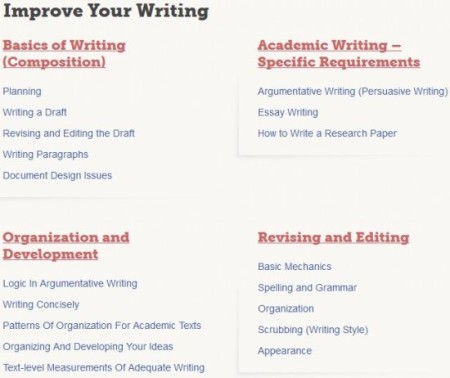 grammarly handbook improve writing section