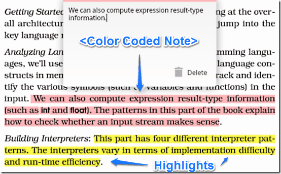highlight and annotation