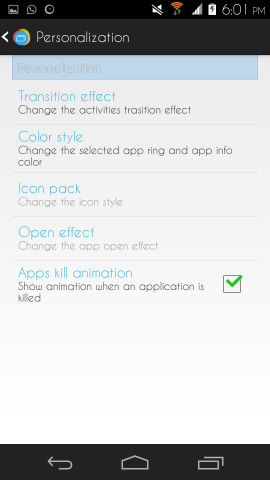 loopr for android transition effects