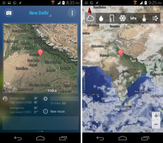 map in bright weather for android