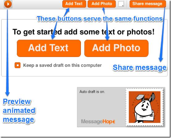 messagehop creation UI