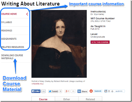 mit ocw course content info