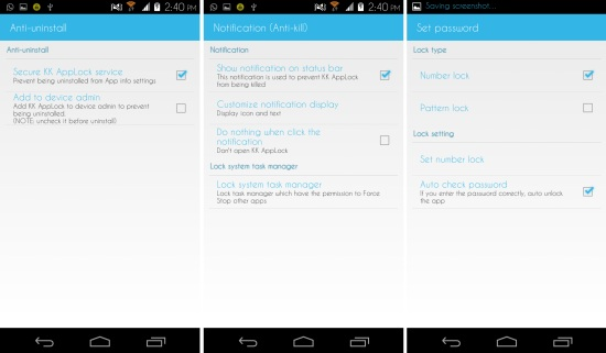 more options in kk applock for android