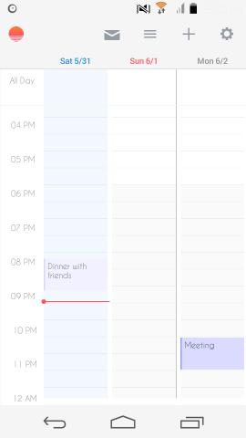 other interface in Sunrise Calendar for Android