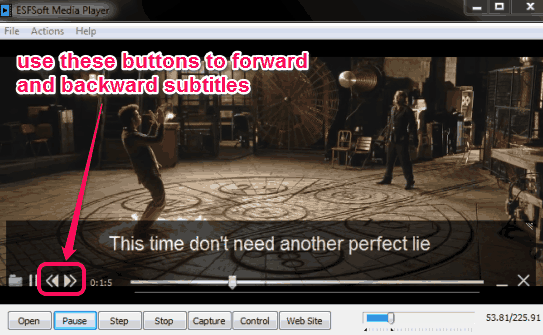 play subtiles on video player
