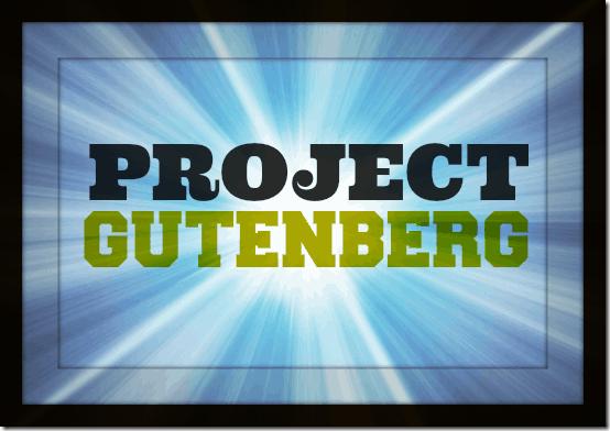 project gutenberg header