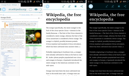 reading mode in javelin browser