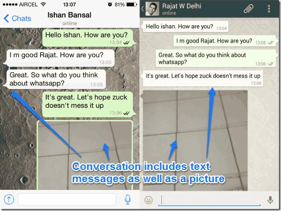 sample whatsapp conversation
