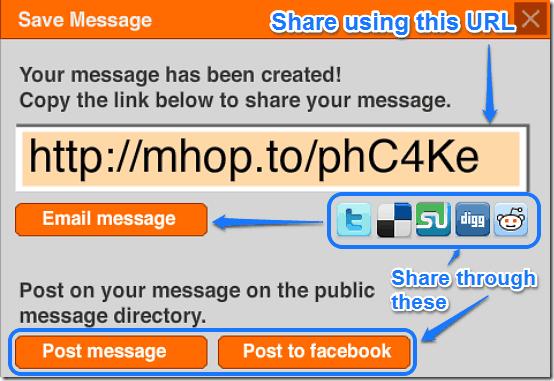 share messagehop