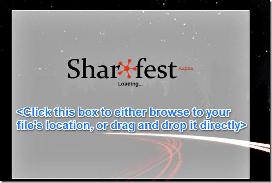 sharefest main ui