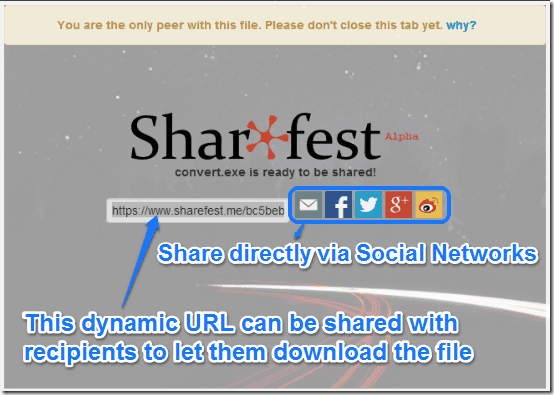 sharefest transfer step 2