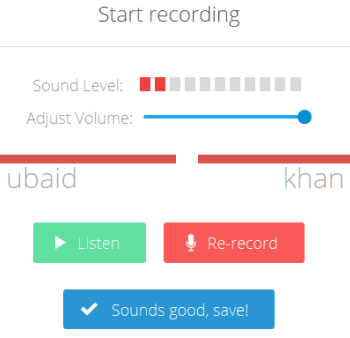 start and save recording