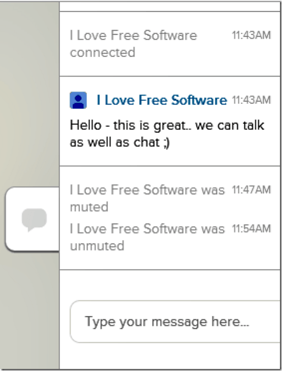 uber conference chat