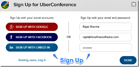uber conference signup