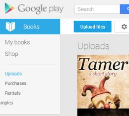upload eBooks to Google Play Books