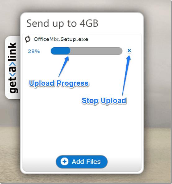 upload progress bar getalink