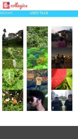 used tiles in Collagics Photo Mosaic For Android