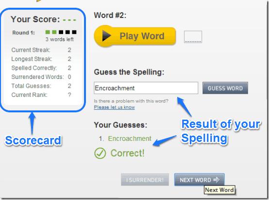 visual thesaurus spelling bee