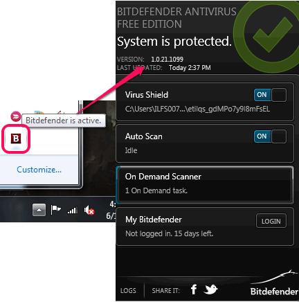 Bitdefender- tray icon