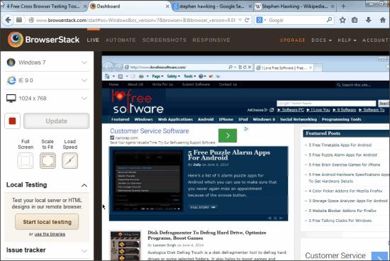 BrowserStack Cross Browser Testing Tool