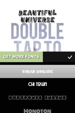 Choose Font