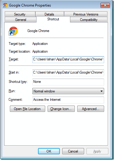 Chrome Installation Path