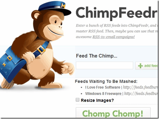 Cimbined RSS Feeder - ChimpFeedr