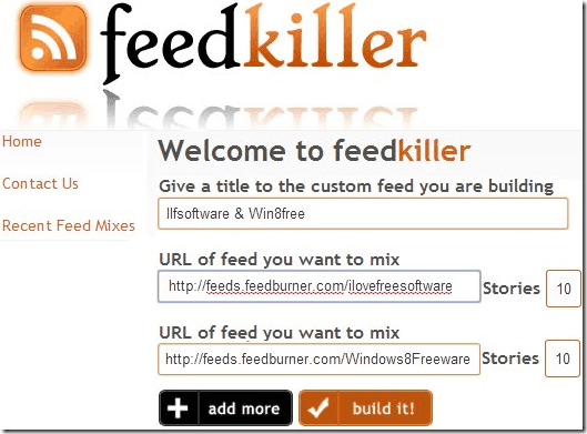 Cimbined RSS Feeder - FeedKiller
