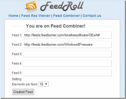 Cimbined RSS Feeder - FeedRoll