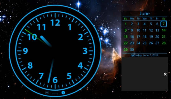 Clock-Analog Clock calendar